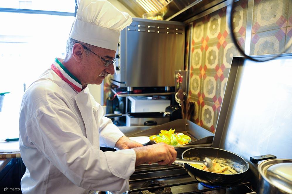 Chef Ciro Esposito del Café Carducci a Verona